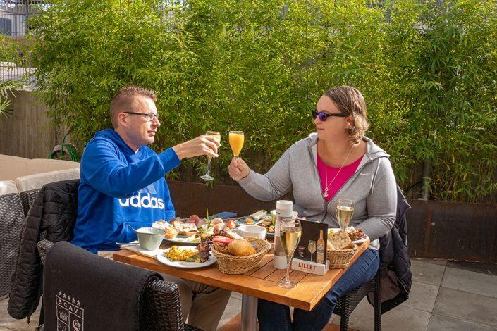 Sekt zum Frühstück im Ludwig